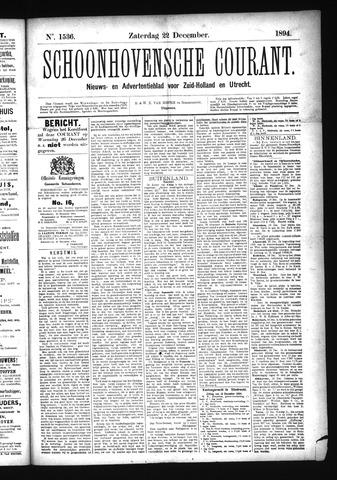 Schoonhovensche Courant 1894-12-22