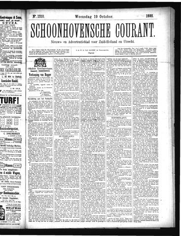 Schoonhovensche Courant 1892-10-19