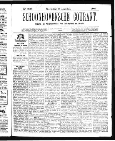 Schoonhovensche Courant 1905-08-16
