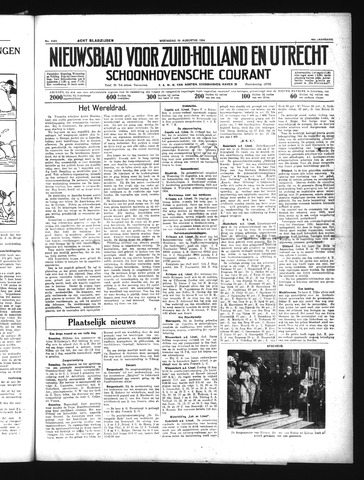 Schoonhovensche Courant 1934-08-15