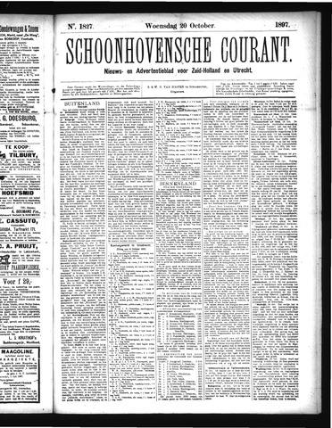 Schoonhovensche Courant 1897-10-20