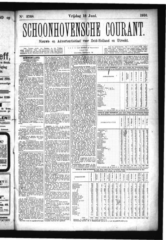 Schoonhovensche Courant 1916-06-16