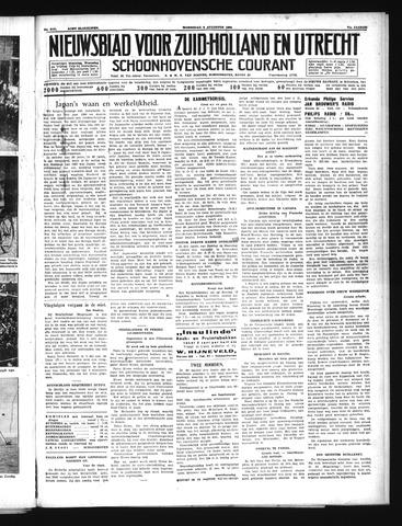 Schoonhovensche Courant 1939-08-09