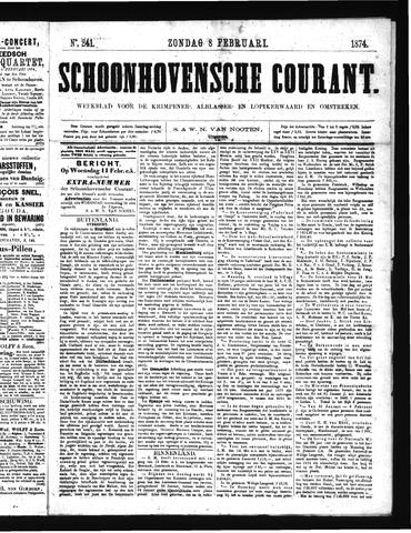 Schoonhovensche Courant 1874-02-08