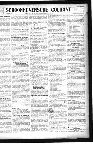Schoonhovensche Courant 1944-09-29