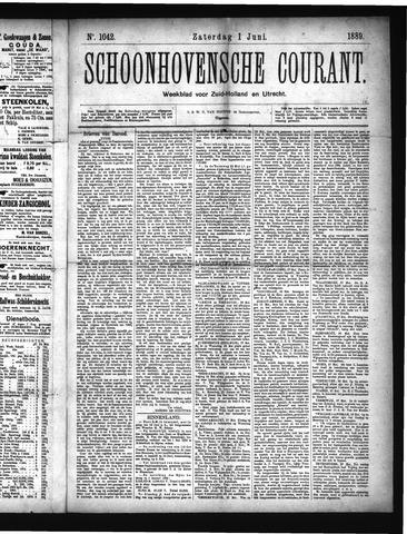 Schoonhovensche Courant 1889-06-01