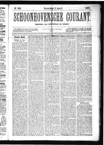 Schoonhovensche Courant 1887-04-02