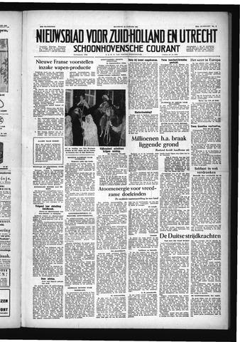 Schoonhovensche Courant 1955-01-10