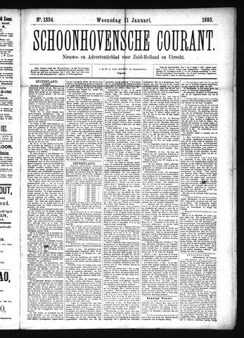 Schoonhovensche Courant 1893-01-11