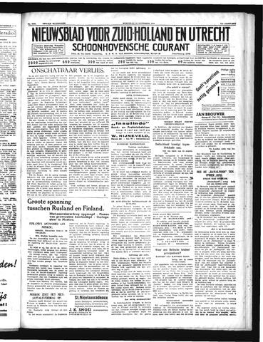 Schoonhovensche Courant 1939-11-29