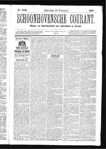 Schoonhovensche Courant 1905-02-25