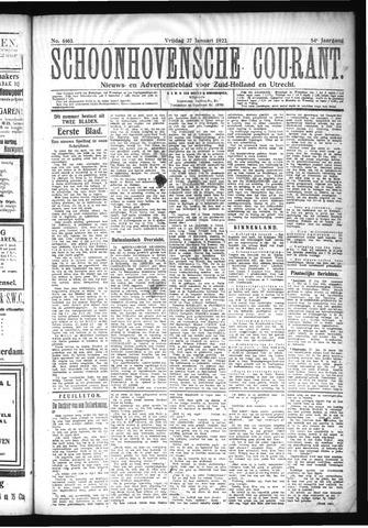 Schoonhovensche Courant 1922-01-27