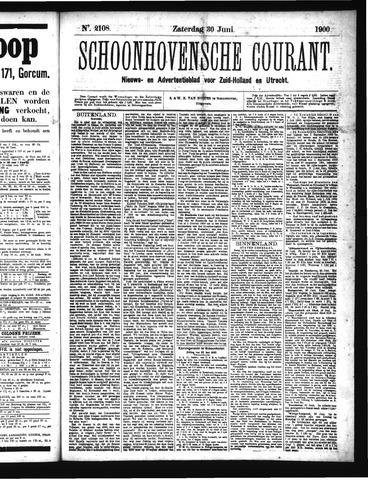 Schoonhovensche Courant 1900-06-30