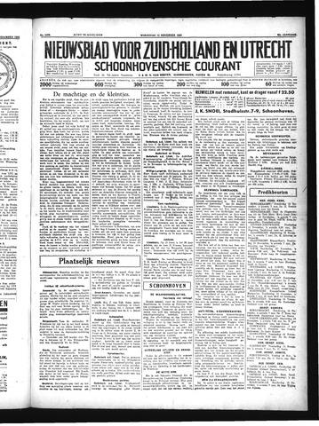 Schoonhovensche Courant 1934-11-14