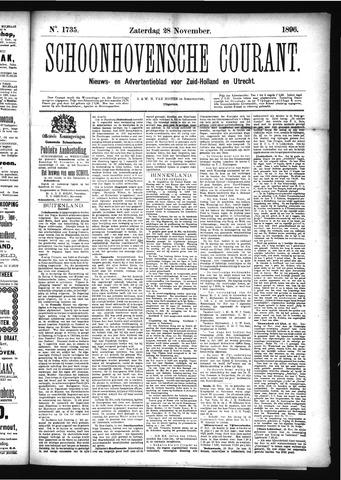 Schoonhovensche Courant 1896-11-28