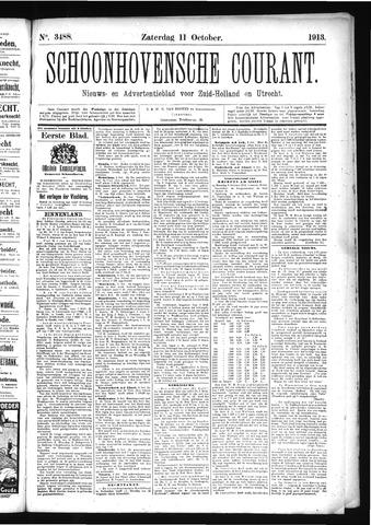 Schoonhovensche Courant 1913-10-11