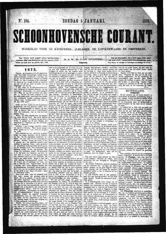 Schoonhovensche Courant 1873