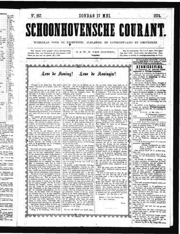 Schoonhovensche Courant 1874-05-17