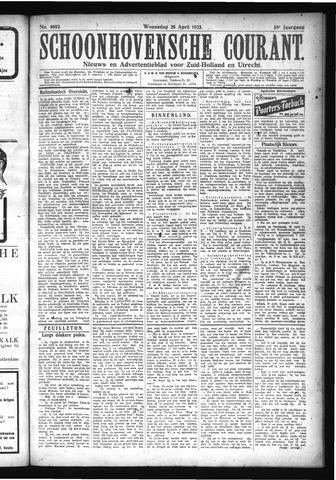 Schoonhovensche Courant 1923-04-25