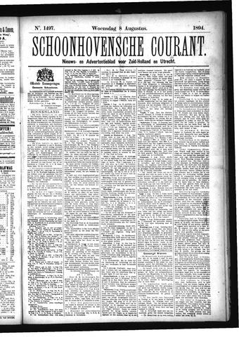 Schoonhovensche Courant 1894-08-08