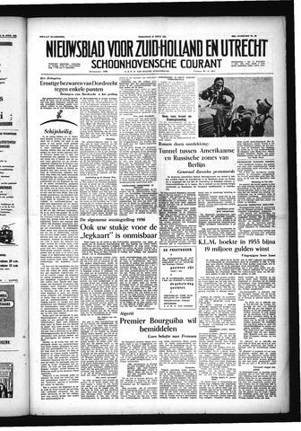 Schoonhovensche Courant 1956-04-25
