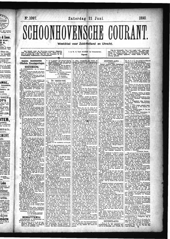 Schoonhovensche Courant 1890-06-21