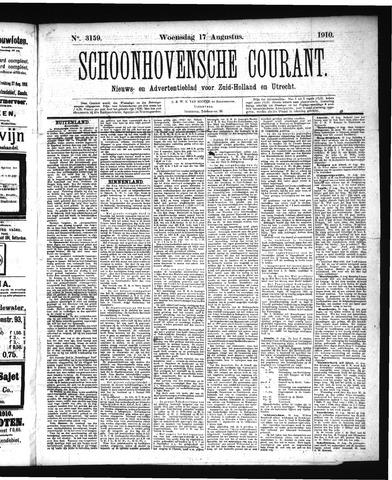 Schoonhovensche Courant 1910-08-17