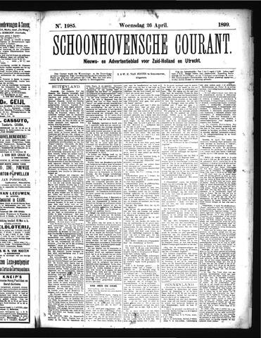 Schoonhovensche Courant 1899-04-26