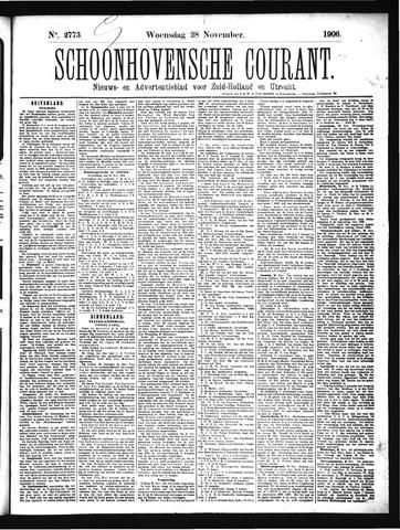 Schoonhovensche Courant 1906-11-28