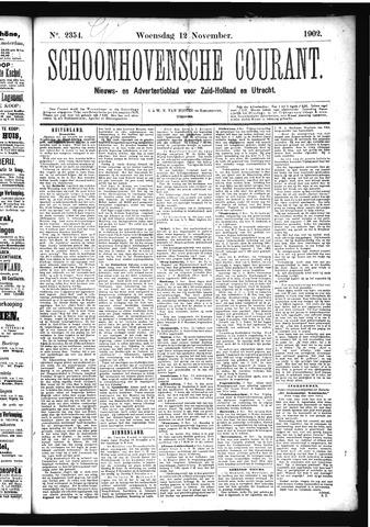 Schoonhovensche Courant 1902-11-12