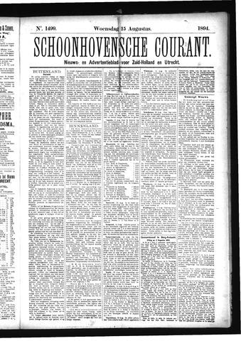 Schoonhovensche Courant 1894-08-15