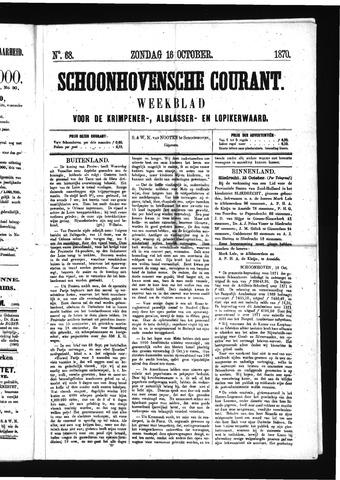 Schoonhovensche Courant 1870-10-16