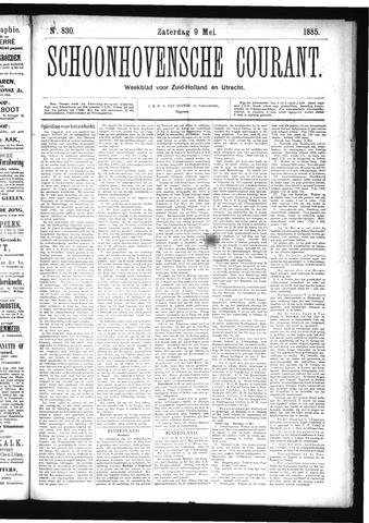 Schoonhovensche Courant 1885-05-09