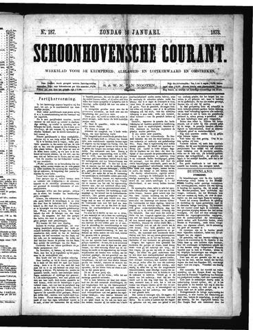 Schoonhovensche Courant 1873-01-26