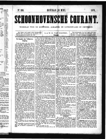 Schoonhovensche Courant 1873-05-18