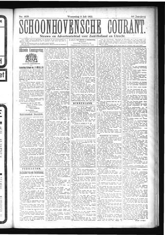 Schoonhovensche Courant 1922-07-05