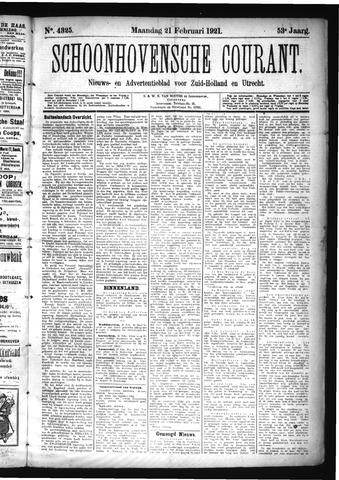 Schoonhovensche Courant 1921-02-21