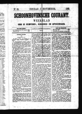 Schoonhovensche Courant 1869-11-07