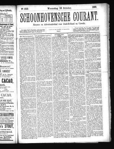 Schoonhovensche Courant 1892-10-26