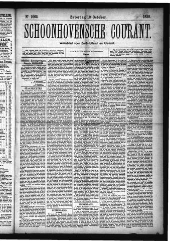 Schoonhovensche Courant 1889-10-19