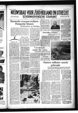 Schoonhovensche Courant 1956-11-02