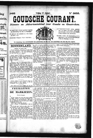 Goudsche Courant 1893-01-27