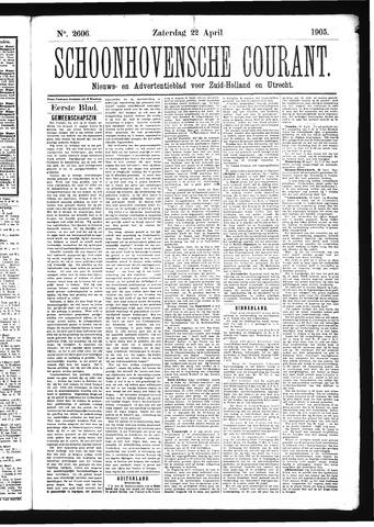 Schoonhovensche Courant 1905-04-22