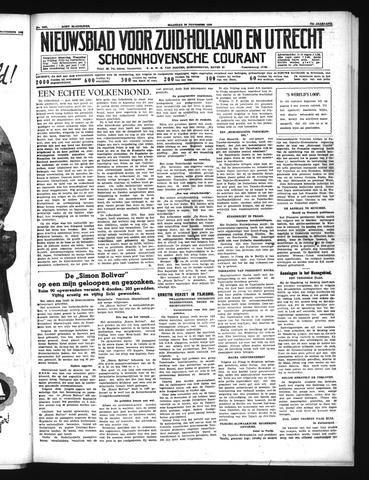 Schoonhovensche Courant 1939-11-20