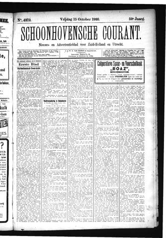 Schoonhovensche Courant 1920-10-15