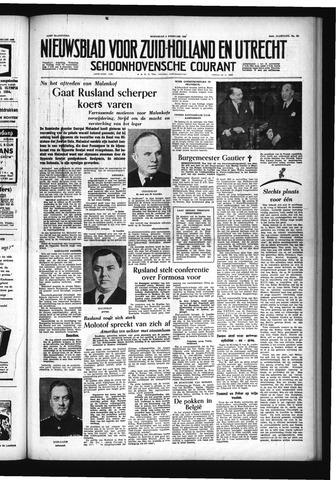 Schoonhovensche Courant 1955-02-09