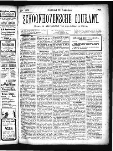 Schoonhovensche Courant 1919-08-25