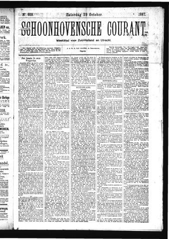 Schoonhovensche Courant 1887-10-29