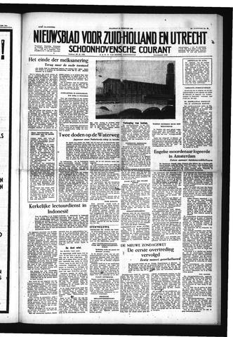Schoonhovensche Courant 1954-02-22