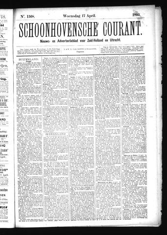 Schoonhovensche Courant 1895-04-17